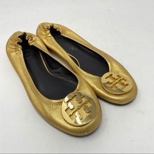 Tory Burch Shoes Leather Reva Logo Flats Slip On